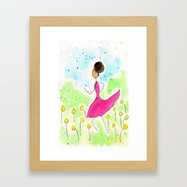 Tia Running So Happy Framed Art Print