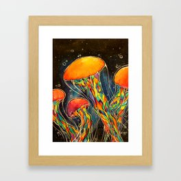 Rainbow Jellies Framed Art Print