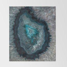 Earth treasures - Blue Agate Throw Blanket