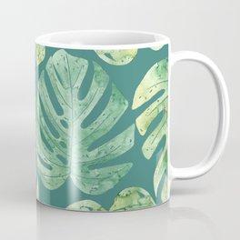 Jungle leaves Monstera leaves Palm leaves Tropical Coffee Mug