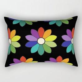 Flower pattern based on James Ward's Chromatic Circle (enhanced) Rectangular Pillow