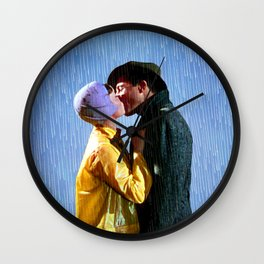 Singin' in the Rain - Blue Wall Clock