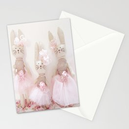 Bunnies Pretty in Pink Stationery Cards