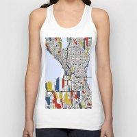 mondrian Tank Tops featuring Seattle Mondrian by Mondrian Maps