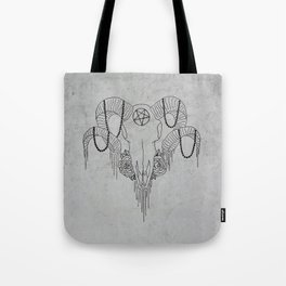 You and Me and the Devil makes 3 Tote Bag