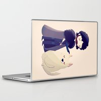 thrones Laptop & iPad Skins featuring Night Gathers by Nan Lawson