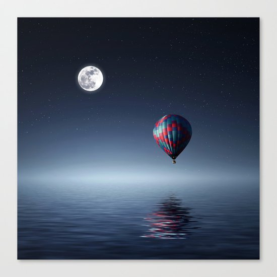 Moon & Balloon Canvas Print