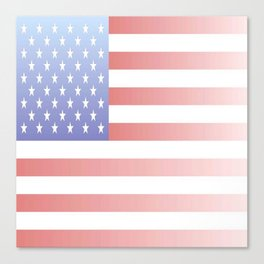 flag of the usa - with color gradient Canvas Print
