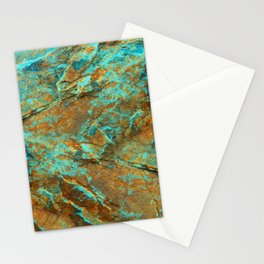 TURQUOISE MINERAL Stationery Cards