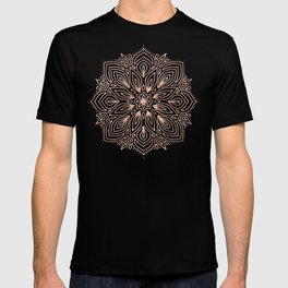 Mandala Rose Gold Quartz on Marble T-shirt