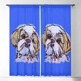 The Shih Tzu always keeps me smiling! Blackout Curtain
