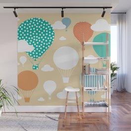 Hot air balloon neutral Wall Mural