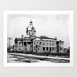 Gulfport, Mississippi Courthouse Art Print