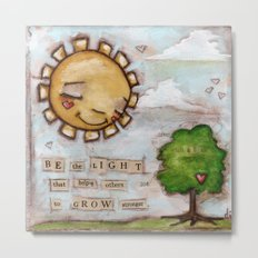 Be the Light - by Diane Duda Metal Print