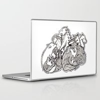 wolves Laptop & iPad Skins featuring Wolves by Freja Friborg