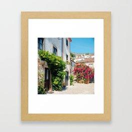 Portugal, Obidos (RR 182) Analog 6x6 odak Ektar 100 Framed Art Print
