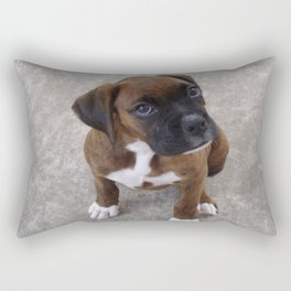 Inquisitive Boxer Pup Rectangular Pillow