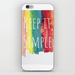Colorful design by #MahsaWatercolor iPhone Skin