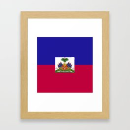 Haiti flag emblem Framed Art Print