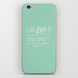 Everlasting Love x Mint iPhone Skin
