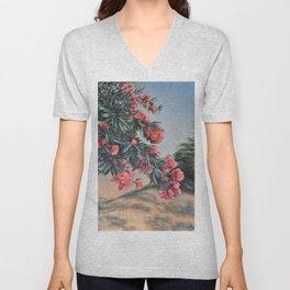 Oleander in the yard Unisex V-Neck