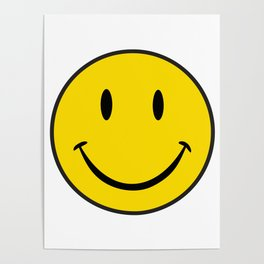Smiley Happy Face Poster
