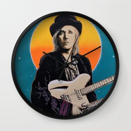 Tom Petty Tribute Mural (2019 Birthday Bash, Gainesville Florida) // Rock Music 80's Musician Guitar Wall Clock