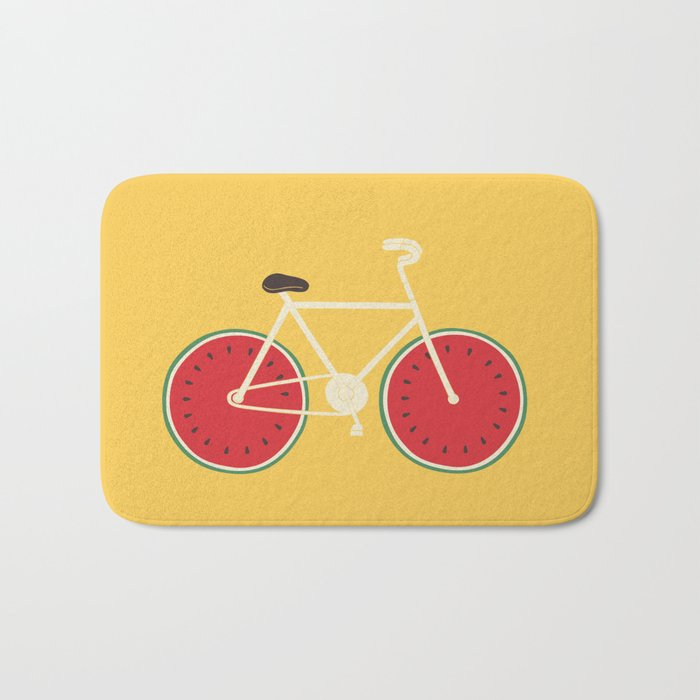 watermelon bike Bath Mat