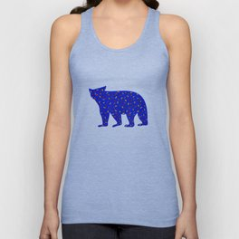 Bear Silhouette with Autumn-Colored Sprinkles Unisex Tank Top