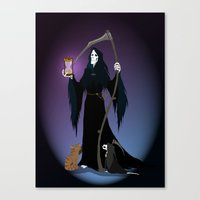 discworld Canvas Prints featuring A PTribute by wolfanita