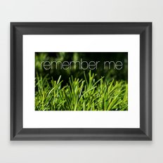 Rosemary for remembrance Framed Art Print