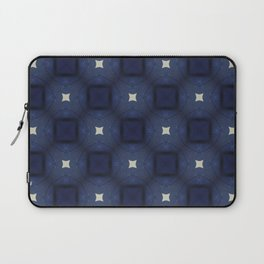 Blue and White Square Pattern Laptop Sleeve
