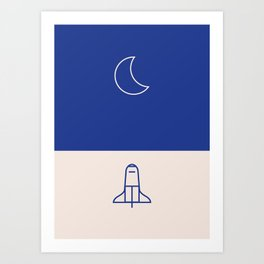 To Moon Art Print