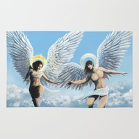 angels Area & Throw Rugs featuring Angels by Janice Duke