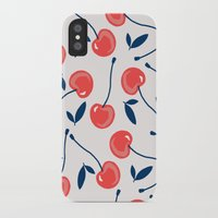 cherry iPhone & iPod Cases featuring Cherry  by Babiole Design