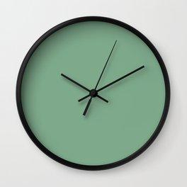 Moss Green in an English Country Garden Wall Clock