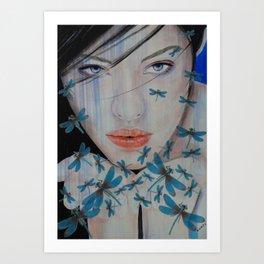 Libelle Art Print