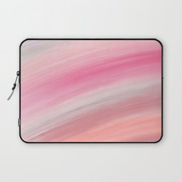 Girly aurora pink coral abstract brushstrokes Laptop Sleeve