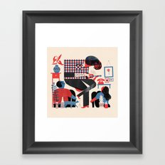 House Show Framed Art Print