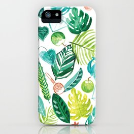 Tropical Monstera Maracas iPhone Case