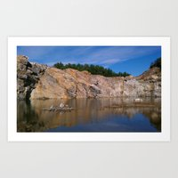 morning quarry beauty Art Print