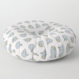 Garlic background Garlic in color square pattern Floor Pillow