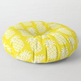Mid Century Modern Pineapple Pattern Yellow Floor Pillow