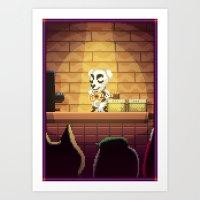 Pixel Art series 1 : Little Song Art Print