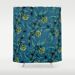 Queen of the Night - Teal Shower Curtain