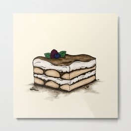 T is for Tiramisu Metal Print