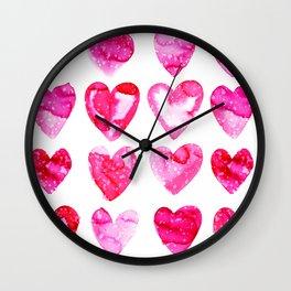 Heart Speckle Wall Clock