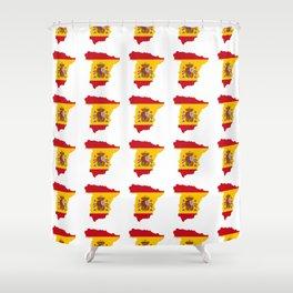 Flag of spain 3-spain,espana, spanish,plus ultra,espanol,Castellano,Madrid,Barcelona Shower Curtain