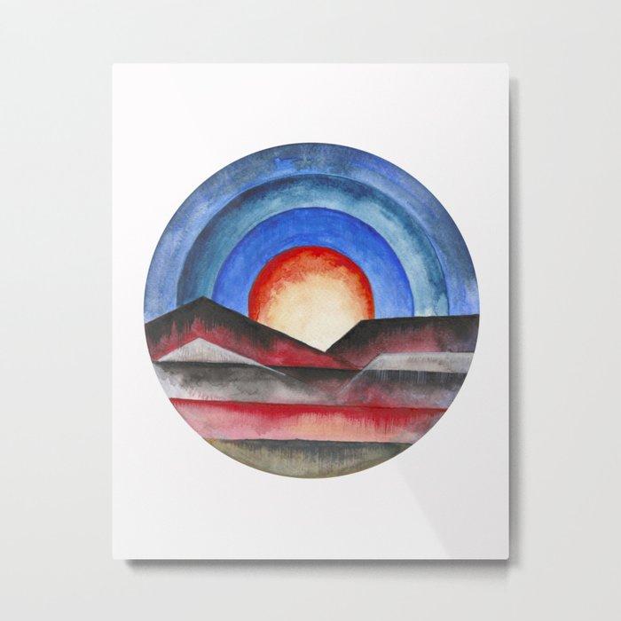 Geometric landscapes 01 Metal Print