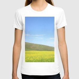 yellow flower field T-shirt